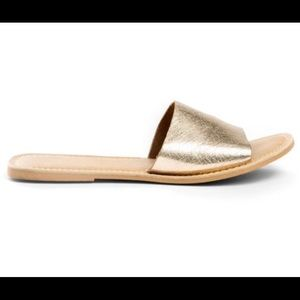 COCONUTS by MATISSE Cabana Gold Slides.